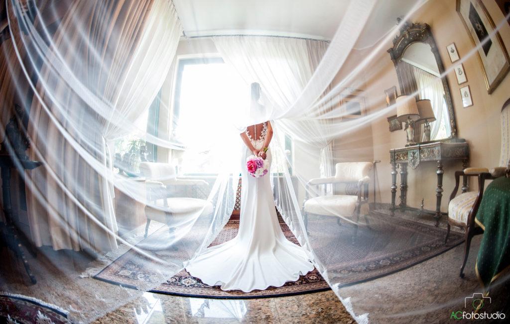 fisheye velo sposa
