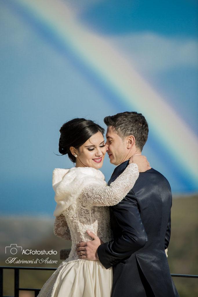 38 sposi con arcobaleno